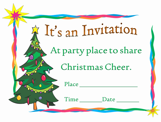 Free Christmas Invitation Templates Word Best Of Printable Christmas Party Invitation Template