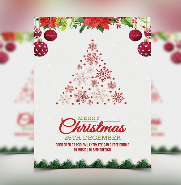 Free Christmas Invitation Templates Word Elegant 32 Christmas Invitation Templates Psd Ai Word