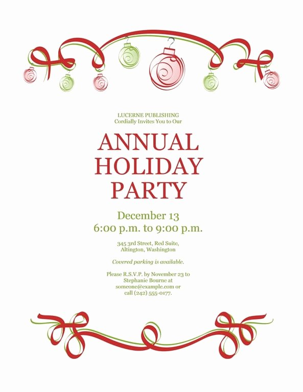 Free Christmas Invitation Templates Word Inspirational Free Word Christmas Party Invitation Templates