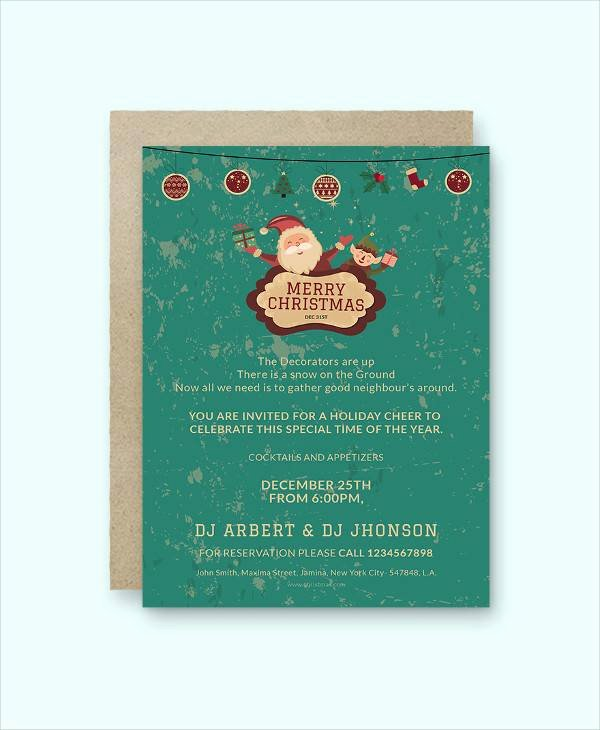 Free Christmas Invitation Templates Word Lovely Free 22 Printable Christmas Invitation Templates In Illustrator Ms Word Pages