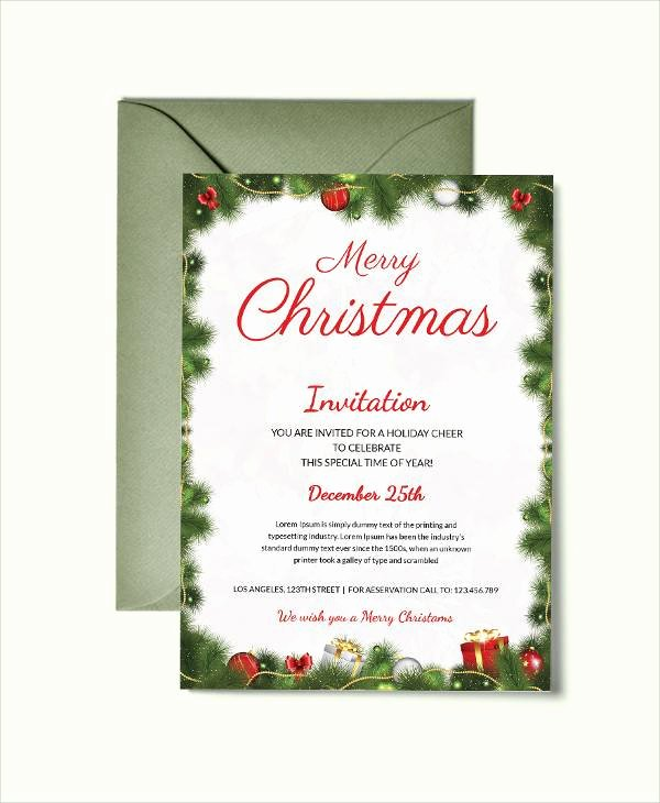 Free Christmas Invitation Templates Word Luxury Free 22 Printable Christmas Invitation Templates In Illustrator Ms Word Pages