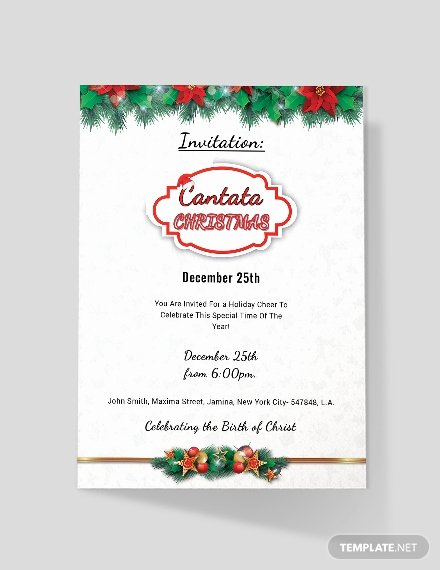 Free Christmas Invitation Templates Word New Free Cantata Christmas Invitation Template Word Psd Apple Pages Publisher