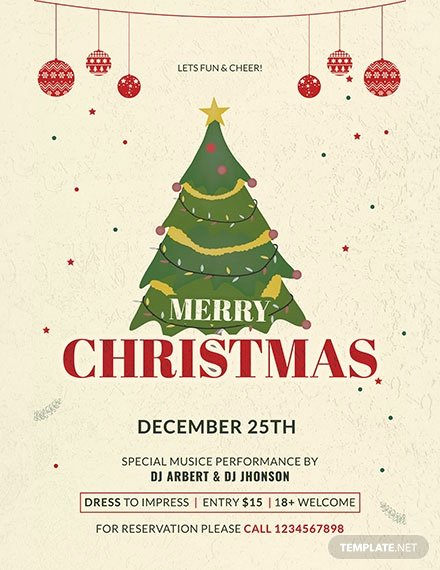 Free Christmas Poster Template Awesome Free Modern Christmas Holiday Poster Template Download 161 Posters In Adobe Shop Apple