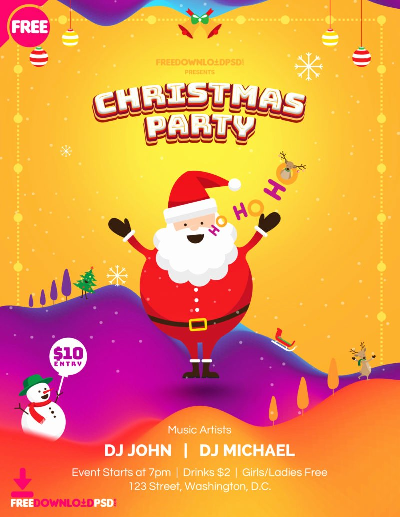 Free Christmas Poster Template Best Of [free] Christmas Party Poster Template