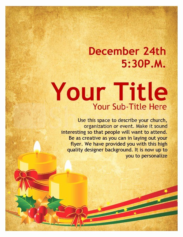 Free Christmas Poster Template Elegant Christmas Carols Church Flyer