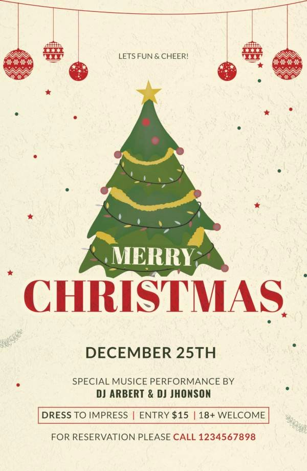 Free Christmas Poster Template Elegant Sample Christmas Poster Template 29 Download Documents In Psd Vector Illustrator