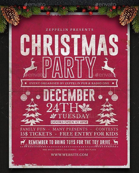 Free Christmas Poster Template Fresh 33 Christmas Flyers Psd Vector Eps
