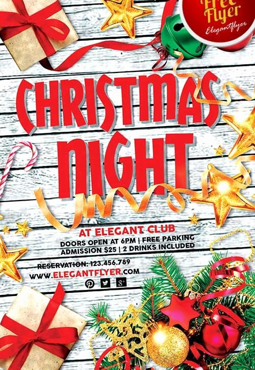 Free Christmas Poster Template Lovely Download Christmas Holiday Free Psd Flyer Template Free Flyer Templates & Psd Club Flyer