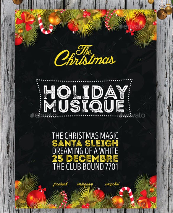 Free Christmas Poster Template Luxury 75 Christmas Poster Templates Free Psd Eps Png Ai Vector format Download