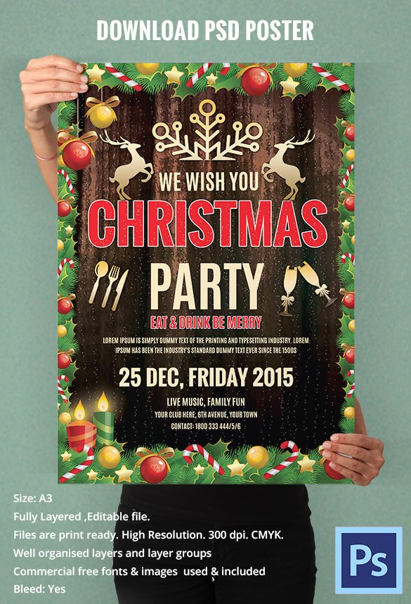 Free Christmas Poster Template Unique 74 Christmas Poster Templates Free Psd Eps Png Ai Vector format Download