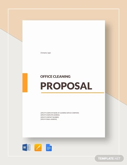 Free Cleaning Proposal Template Awesome 15 Cleaning Proposal Templates Word Pdf Apple Pages Google Docs