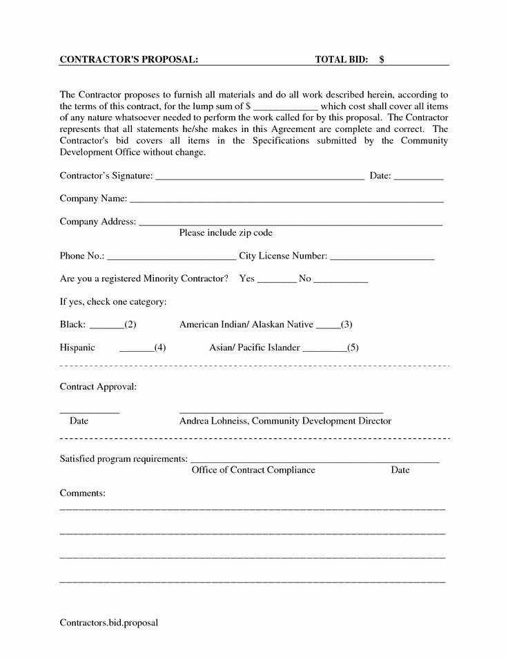 Free Cleaning Proposal Template Best Of Printable Blank Bid Proposal forms Scope Of Work Template Proposal Pinterest