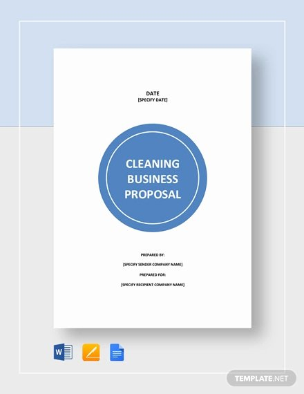 Free Cleaning Proposal Template Luxury Free 12 Cleaning Proposal Examples and Samples In Pdf Google Docs Pages Doc