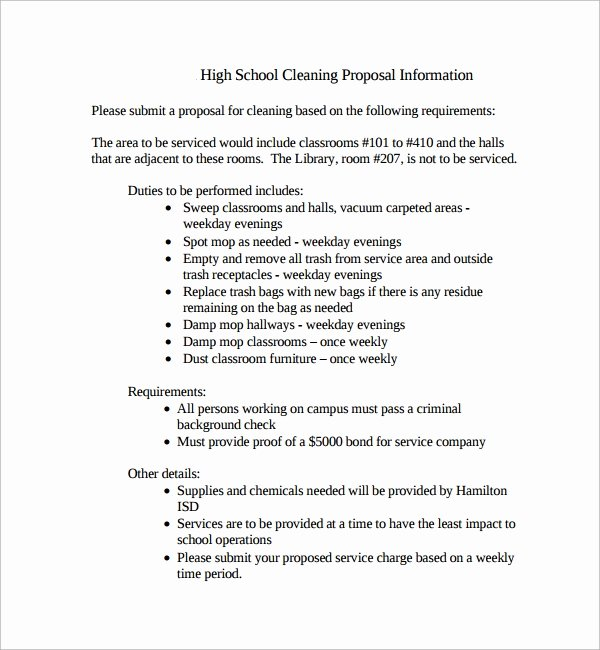 Free Cleaning Proposal Template Luxury Sample Cleaning Proposal Template 9 Free Documents In Pdf