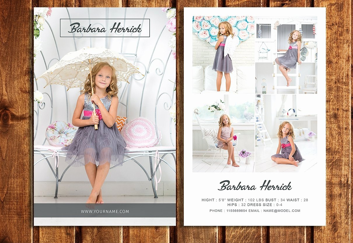 Free Comp Card Template Beautiful Free 9 Model Portfolio Examples In Psd Ai Eps Vector