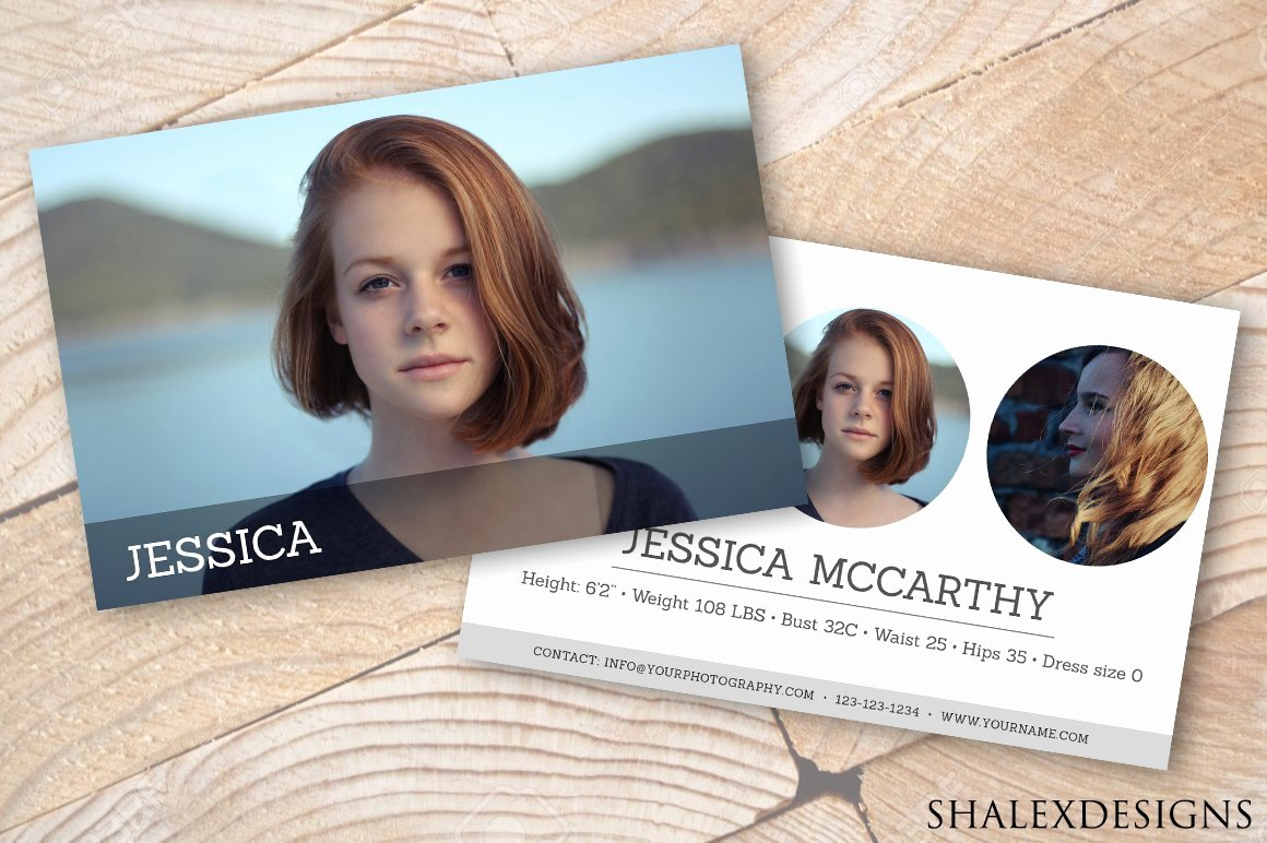 Free Comp Card Template Beautiful Modeling P Card Template Card Templates Creative Market