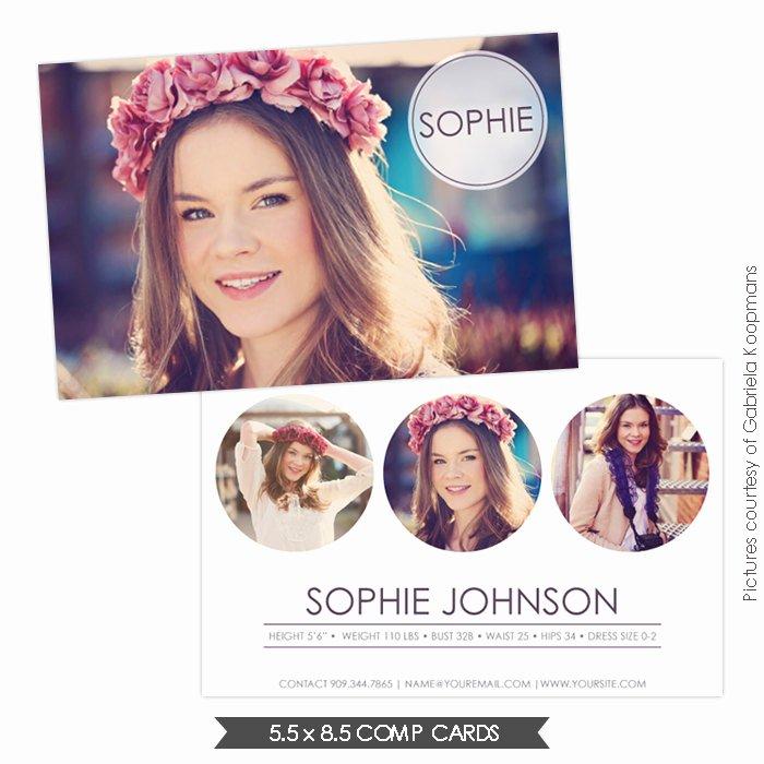 Free Comp Card Template Elegant Instant Download Modeling P Card Shop Templates