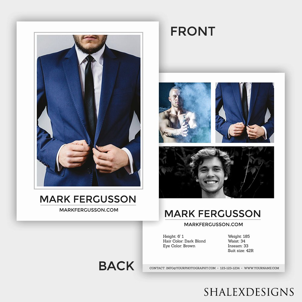 Free Comp Card Template Fresh Male Modeling P Card Model P Card Modeling P Card