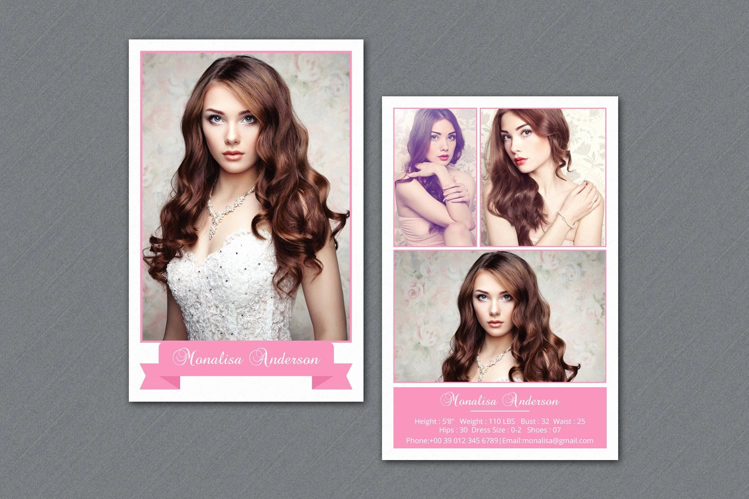 Free Comp Card Template Inspirational Fashion Model P Card V292 Flyer Templates Creative Market