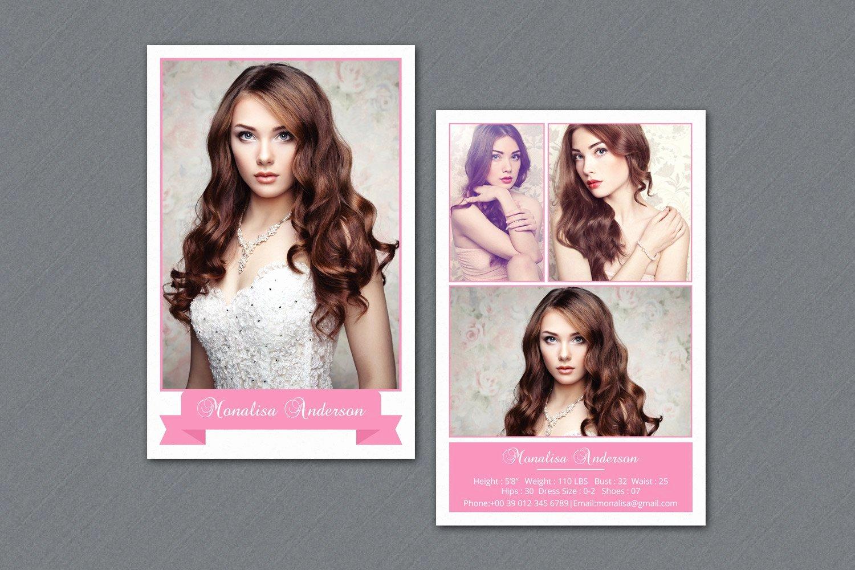 Free Comp Card Template Inspirational Fashion Model P Card V292 Flyer Templates Creative Market