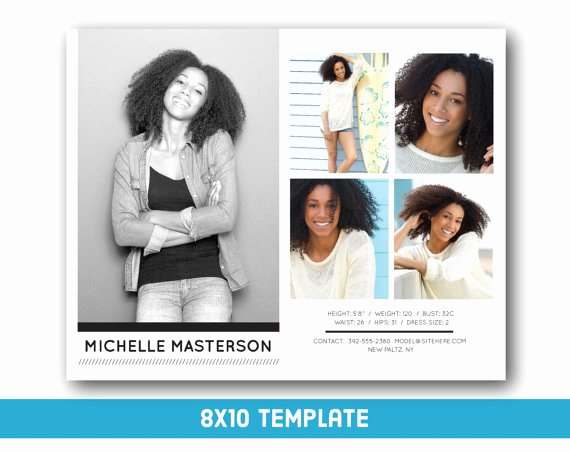 Free Comp Card Template Lovely Customizable Digital Model P Card 8x10 Fashion forward