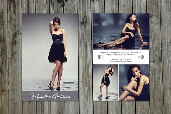 Free Comp Card Template Photoshop Beautiful Modeling P Card Template Model P Card Shop