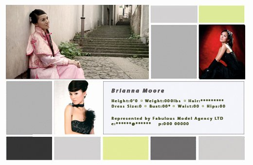 Free Comp Card Template Photoshop Elegant P Card Template