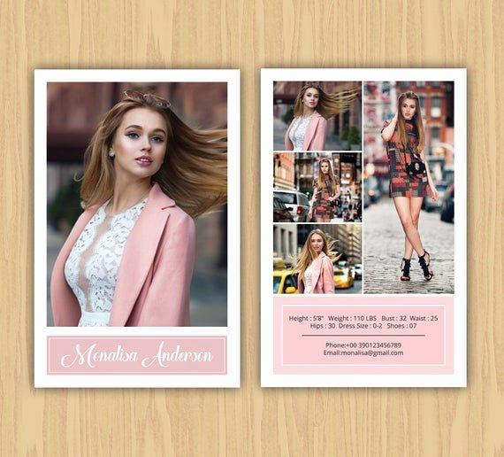 Free Comp Card Template Photoshop Fresh Fashion Model P Card Template Modeling P Card