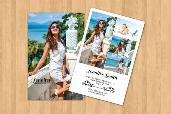 Free Comp Card Template Photoshop Fresh Items Similar to Model P Card Template