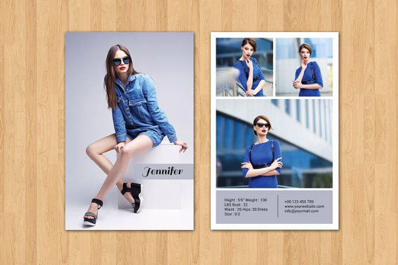 Free Comp Card Template Photoshop Inspirational Model P Card Zed Card Collections On Behance