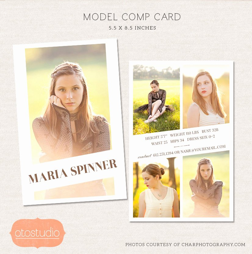 Free Comp Card Template Unique Sale Model P Card Shop Template Editorial Chic