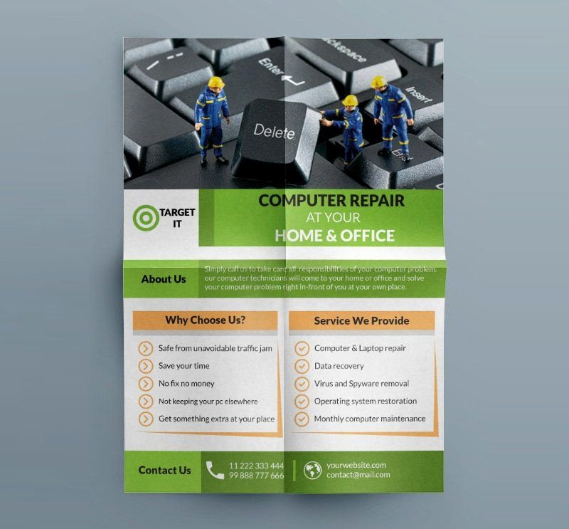 Free Computer Repair Flyer Template Inspirational Free Puter Repair Flyer Template Psd B