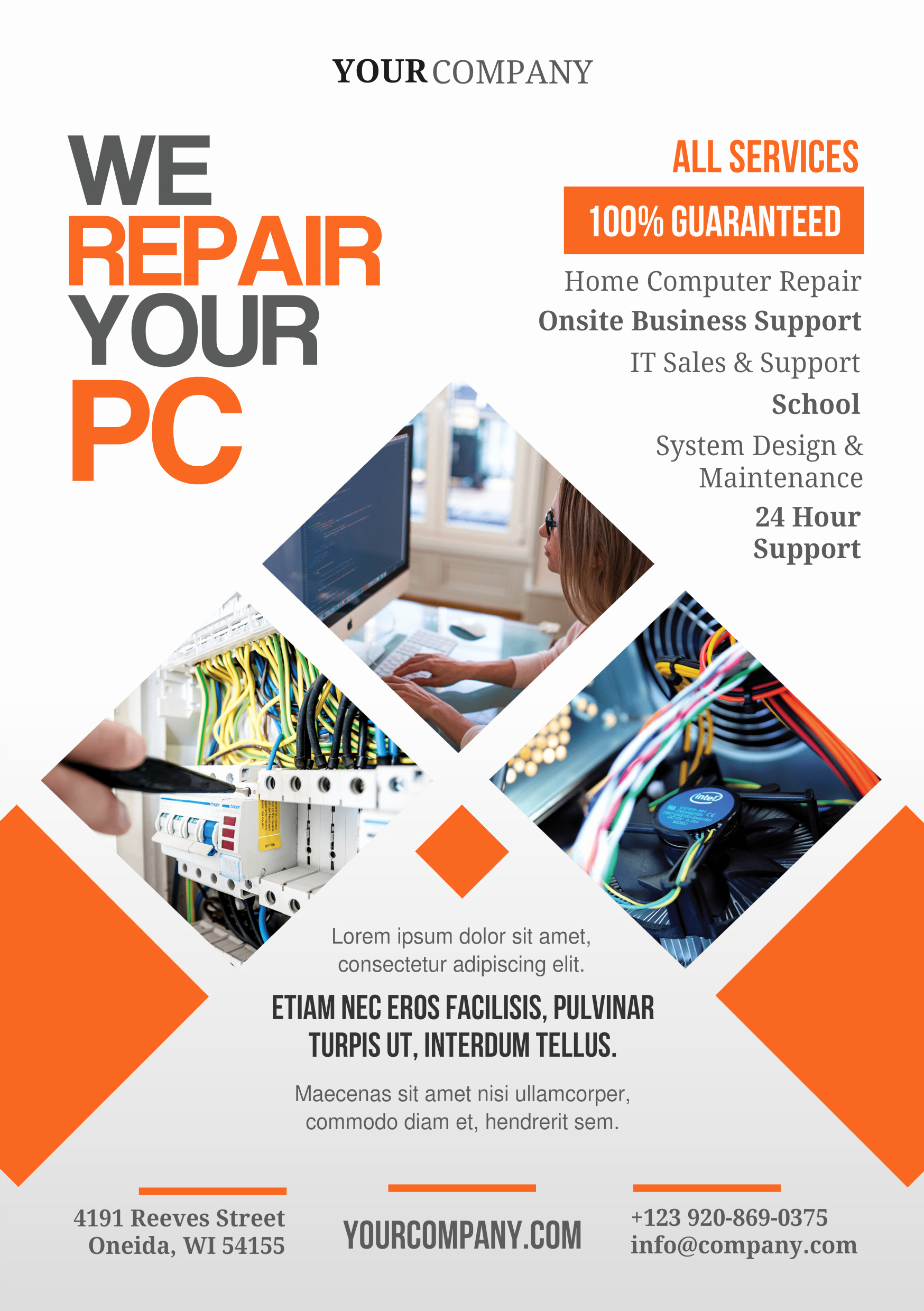 Free Computer Repair Flyer Template New Pc Repair A5 Promotional Flyer