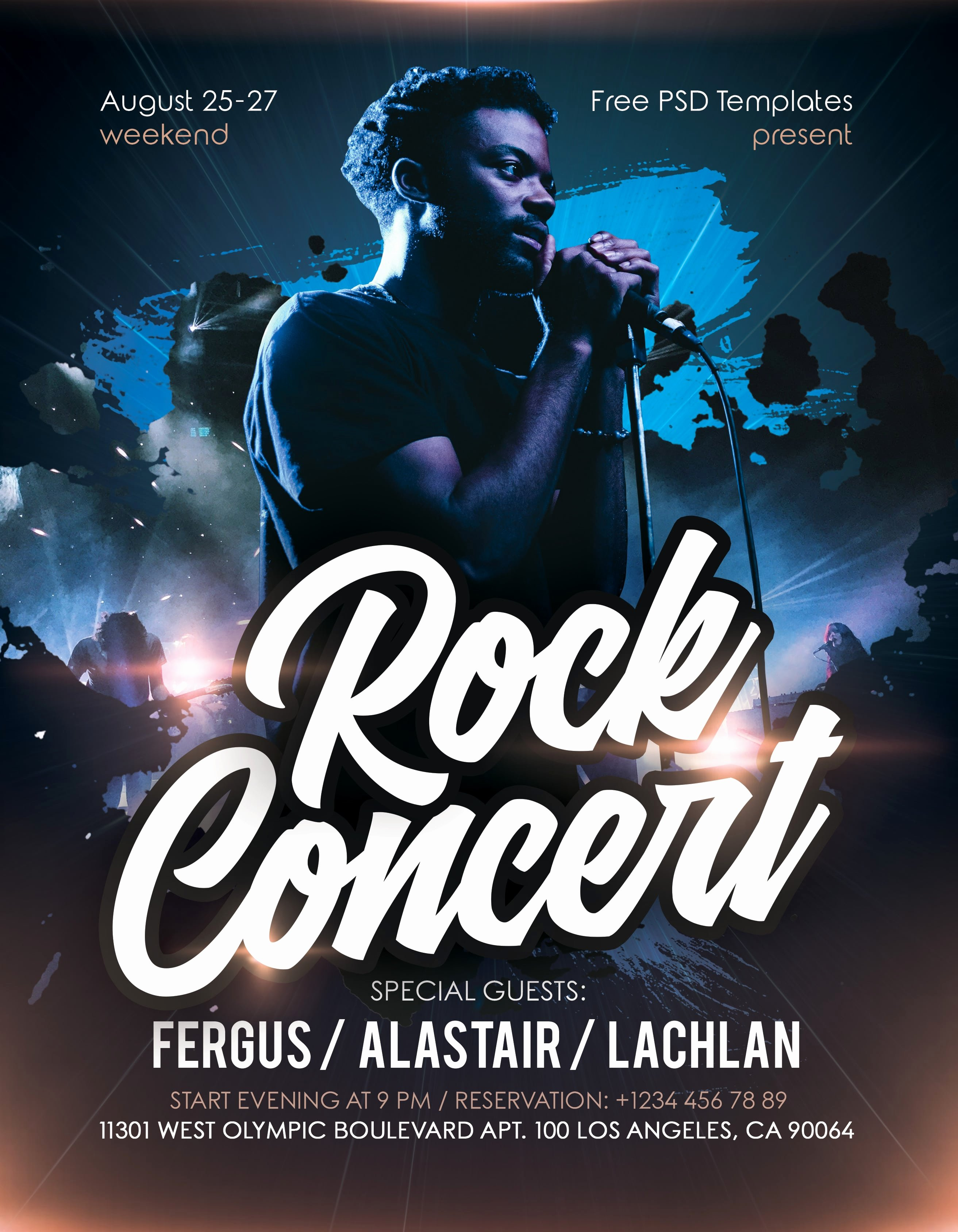 Free Concert Flyer Template Awesome Rock Concert event Free Psd Flyer Template Free Psd Flyer Templates Brochures Mockup & More