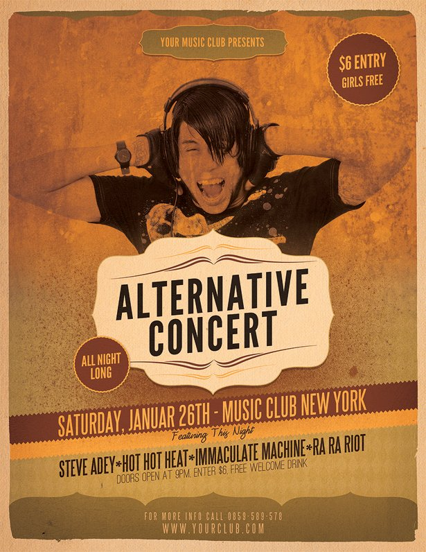 Free Concert Flyer Template Elegant Alternative Concert Flyer Template Vandelay Design