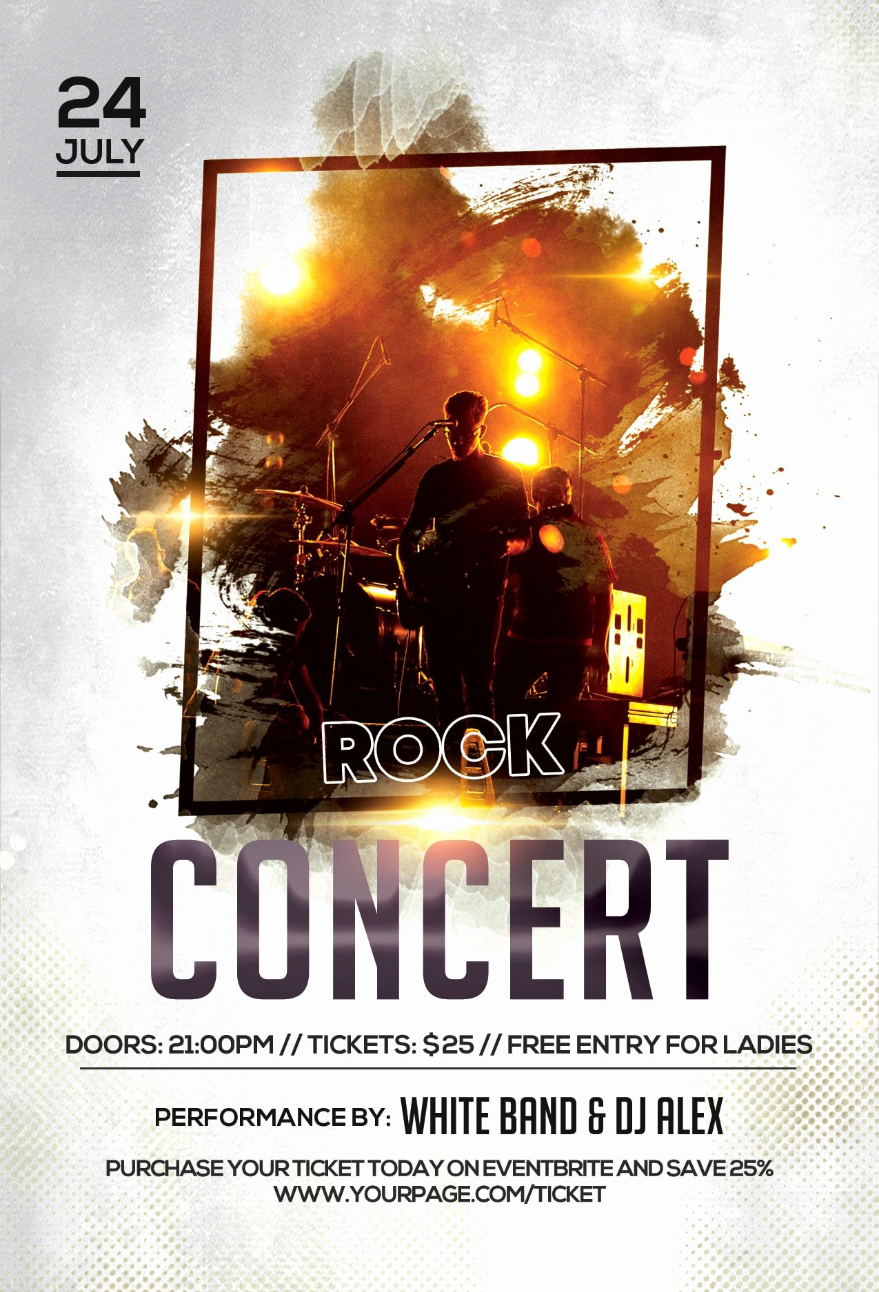 Free Concert Flyer Template Lovely Rock Concert Free Psd Flyer Template Free Psd Flyer Templates Brochures Mockup & More