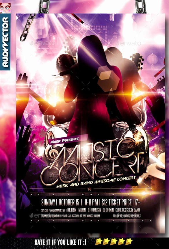 Free Concert Flyer Template Luxury 11 Psd Band Flyer Templates Psd Ai Publisher Apple Pages