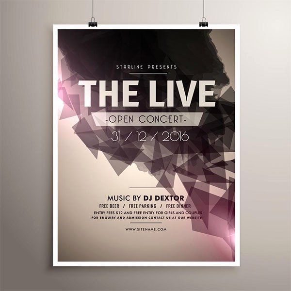 Free Concert Poster Template Inspirational 65 Concert Flyer Templates Free Psd Vector Png Eps Ai Downloads
