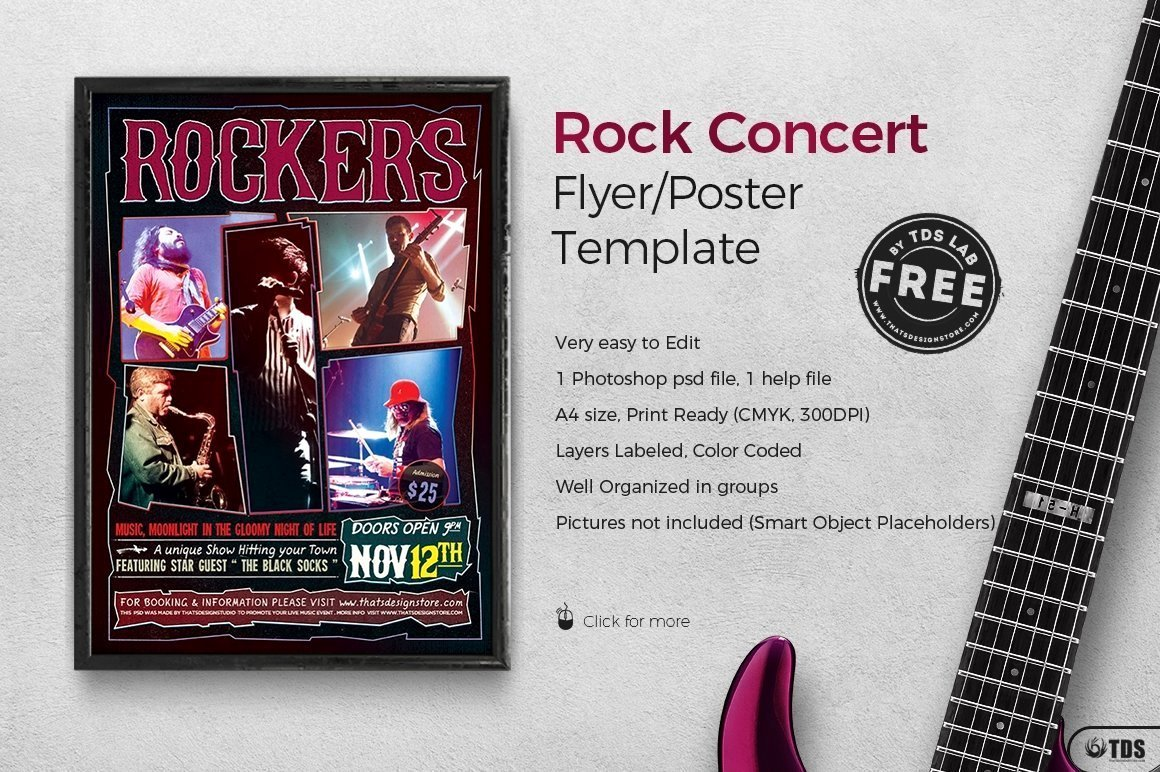 Free Concert Poster Template Unique Rock Concert Free Flyer