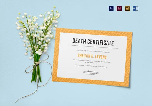 Free Death Certificate Template Awesome 13 Sample Death Certificate Templates Pdf Doc