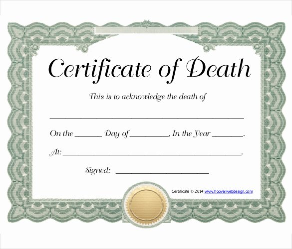 Free Death Certificate Template Beautiful 11 Sample Death Certificate Templates Pdf Doc