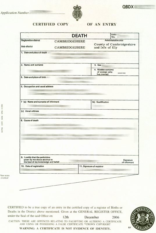 Free Death Certificate Template Best Of Blank Death Certificate Uk