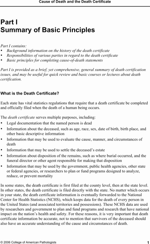 Free Death Certificate Template Luxury Download Death Certificate Template for Free formtemplate