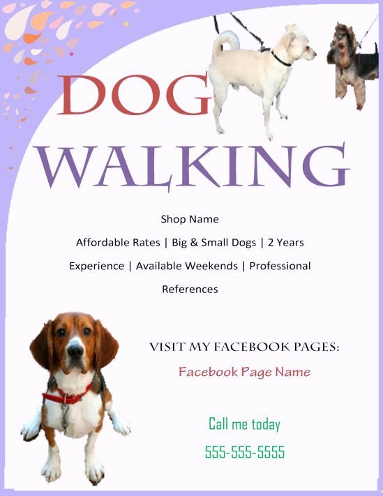 Free Dog Walking Flyer Template Best Of Dog Walking and Flyer Program Dog Walking Flyer Certificate