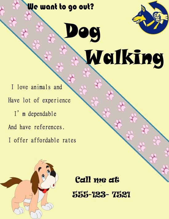 Free Dog Walking Flyer Template Best Of Dog Walking Certificate Template Dog Walking Flyer Certificate