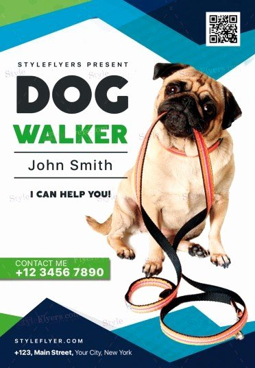 Free Dog Walking Flyer Template Elegant Dog Walker Psd Flyer Template Styleflyers