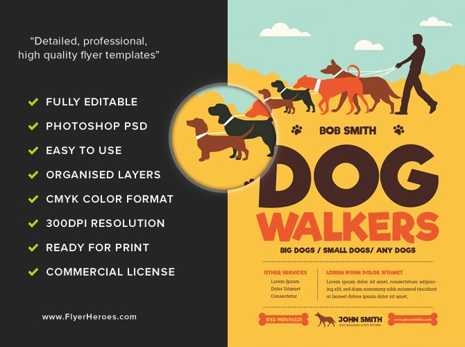 Free Dog Walking Flyer Template Fresh Dog Walkers Flyer Template Flyerheroes