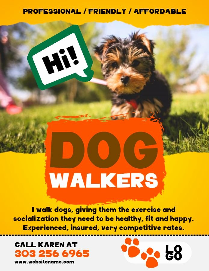 Free Dog Walking Flyer Template Lovely 12 Best Lost Pets and Pet Adoption Flyers Images On Pinterest