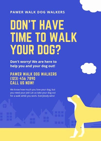 Free Dog Walking Flyer Template Lovely Customize 66 Dog Walker Flyer Templates Online Canva