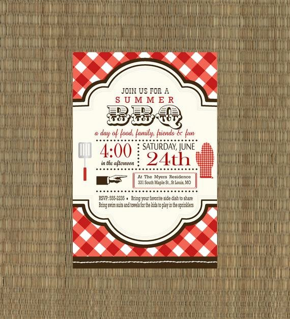 Free Downloadable Picnic Invitation Template Best Of Items Similar to Printable Bbq Invitation Rehearsal Dinner Bbq Invitation Summer Invitation